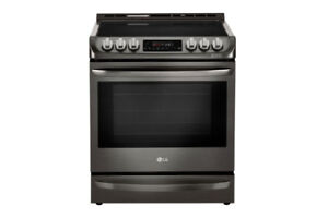 6.3 cf. Black Stainless Steel Electric Slide In Range LSE5613BD