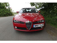 "2007 Alfa Romeo 159 1.9JTDM 16v Lusso DIESEL SALOON 89K FSH LEATHER CD 18"" ALLOY"