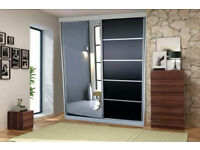 **Massive Storage** Brand New 2 Door Vision Sliding Wardrobe Full Mirrored **Size 150cm/200cm**