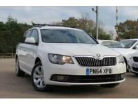 SKODA SUPERB 2.0 S TDI CR DSG AUTOMATIC DIESEL ESTATE 2014 64 REG WHITE