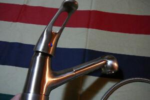 Valterra Phoenix kitchen faucet in brushed nickel,