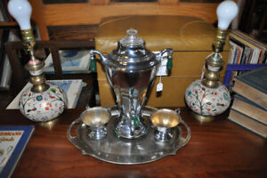 DECO KROMASTER ELECTRIC COFFEE URN SET AT ORONO ANTIQUES