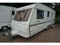 STUNNING 2005 COACHMAN LASER 590 4 BERTH CARAVAN - TWIN AXLE - END WASH - AIRCON
