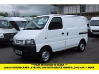 2004 SUZUKI CARRY SWB 1.3 PETROL VAN WITH 83.000 MILES,SERICE HISTORY,LONG M.O.T