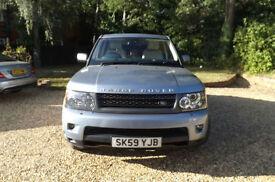 2009 09 Land Rover Range Rover Sport 3.0 TDV6 HSE AUTO 84K FLRSH IZMIR BLUE