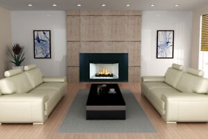 LINEAR GLASS OR LOG FIREPLACE INSERT