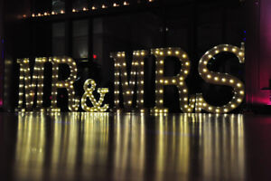 Wedding decor - Giant Marquee Letters - MR & MRS