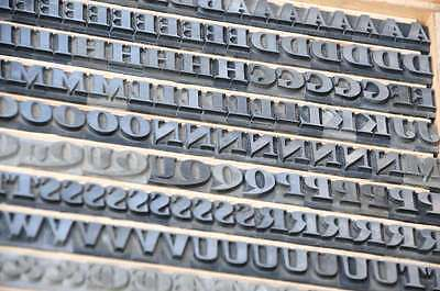 Bleischrift 14mm Bleisatz Buchdruck Alphabet  Bleilettern Lettern ABC Letter