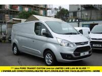 2014 FORD TRANSIT CUSTOM 290/125 LIMITED L2/H1 LWB IN METALLIC SILVER WITH AIR C