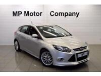 2013 63 FORD FOCUS 1.6 ZETEC S S/S 5D AUTO 124 BHP 5DR 6SP SPORTY HATCH, SILVER
