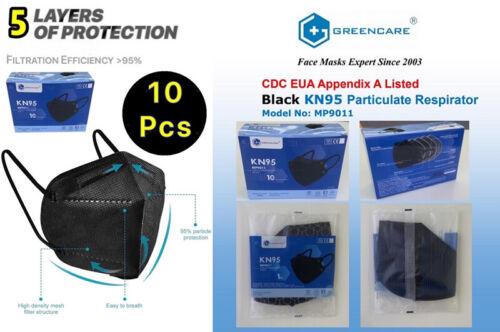 10 PCS Black/white Face Mask Mouth & Nose Protector Respirator Masks USA Seller