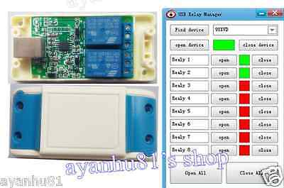 5v Usb Relay 2 Channel Programmable Computer Pc Smart Control Switch Controller