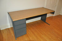 Fergus - Large Office Desk with attached file cabinet