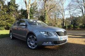 2009 59 Skoda Superb 2.0TDI CR 170 DSG Elegance AUTOMATIC FSH BEIGE LEATHER NAVI