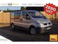 Renault Trafic NO VAT FACTORY CREWVAN/KOMBI SL27 DCI 115 SWB CC LC