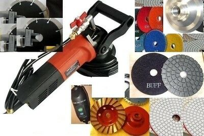 Wet Stone Cutter Polisher Granite Concrete Masonry Tile Fabrication Refinishing
