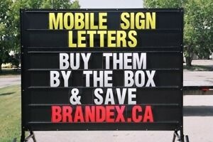 MOBILE / PORTABLE OUTDOOR SIGN LETTERS