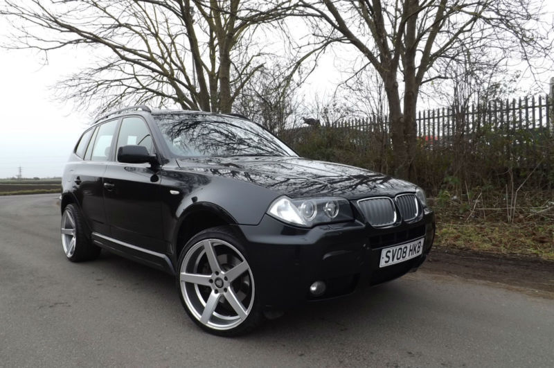 2008 bmw x3 auto m sport diesel 4x4 fsh sat nav xenons leather bodykit 20 in. Black Bedroom Furniture Sets. Home Design Ideas