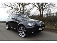 """2008 BMW X3 3.0d auto M Sport DIESEL 4X4 FSH SAT NAV XENONS LEATHER BODYKIT 20"""""""