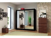 "CHEAPEST OFFER"" **Brand New Berlin Full Mirror 2 Door Sliding Door Wardrobe**"