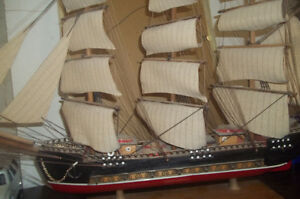 Vintage Hand made  Ship and other collectibles