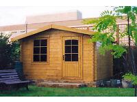 3.5m x 3m log cabin