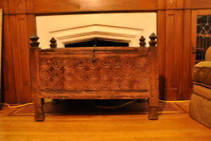 Gorgeous Antique Wood Chest from India