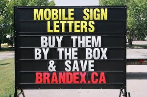 MOBILE SIGN / PORTABLE SIGN LETTERS