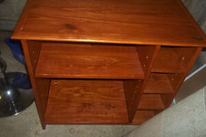 medium Solid wood entertainment/TV cabinet