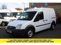 2013 FORD TRANSIT CONNECT T230 LWB HIGH ROOF DIESEL VAN *** 1 OWNER,FULL SERVICE