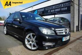 2012 MERCEDES C-CLASS C220 CDI 2.1 BLUEEFFICIENCY AMG SPORT DIESEL AUTO 4 DOOR S