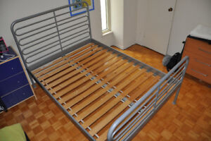 IKEA  SVARTA Full/Double BED FRAME with Slated Bed Base