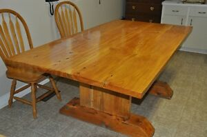 Hand made log table, unique wooden table, dining table Peterborough Peterborough Area image 1