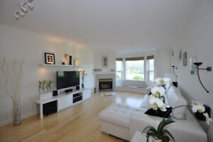 Furnished, PANORAMIC ocean/mountains view, luxury 2 BD+Den,  2ba
