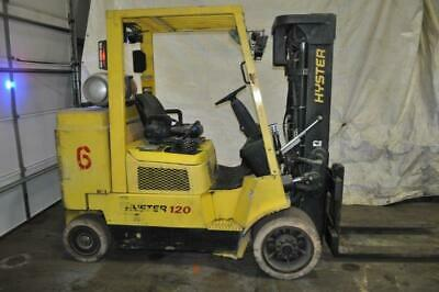 12000 Lb Hyster Forklift Lp Fuel 163 Lift Height Triple Low Profile Mast 48 F