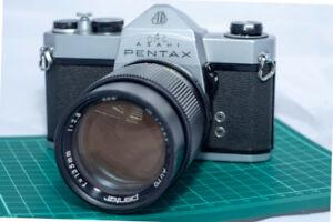 PENTAX SP 1000 Film & 135mm f/2.8 Lens - New Light Seals & Foam