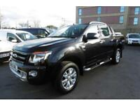 2015 FORD RANGER WILDTRAK 4X4 DOUBLE CAB 3.2 TDCI 200 AUTOMATIC IN PANTHER BLACK