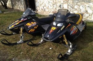 TWO SKI DOO PACKAGE DEAL WITH TRAILER