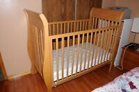 Solid hardwood maple crib