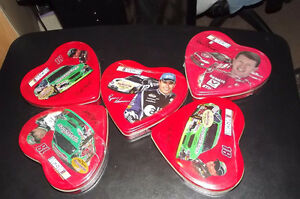NASCAR - 5 Palmer Heart Shaped Tins - NEW/SEALED
