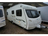 2010 LUNAR CLUBMAN SE 4 BERTH CARAVAN - FIXED BED - MOVER - ALDE HEATING -
