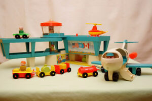 Vintage Fisher Price Airport with Jet Plane