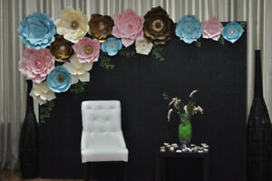 Paper Flowers on 6x8 ft backdrop
