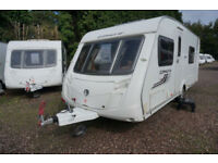 2011 SWIFT CORNICHE 19/4 4 BERTH CARAVAN FIXED BED - END WASHROOM - LOVELY!