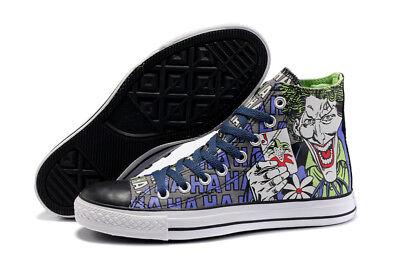 Batman Shoes Vans (MENS Converse DC Comics Joker Batman High Tops Hi 122135F Shoes New Rare)