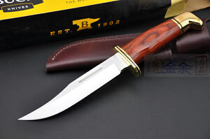 Buck Fixed Blade Knife 119BR Special Cocobolo 15cm Blade+ Leather Sheath New