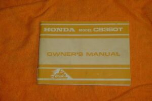 Honda CB360T Owner's Manual