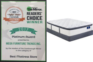 Euro Top Queen Mattress and Double Size Set