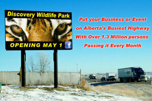 Chamber Digital Billboard on Hwy 2 passed by 1.3 million people