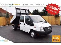 Ford Transit NO VAT ONLY 39K MILES 125 BHP FACTORY ALLOY ONE STOP D/C TIPPER 350